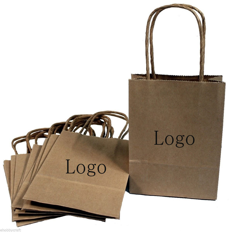 custom brown paper bags Buy custom paper bags printed with your logo as giveaways for your upcoming campaign here at branderscom order personalized paper bags today.
