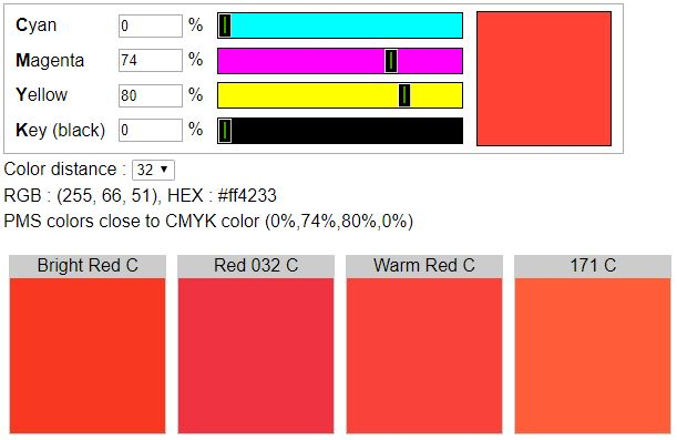 Cmyk To Pms Find Spot Colors Close To Cmyk Color